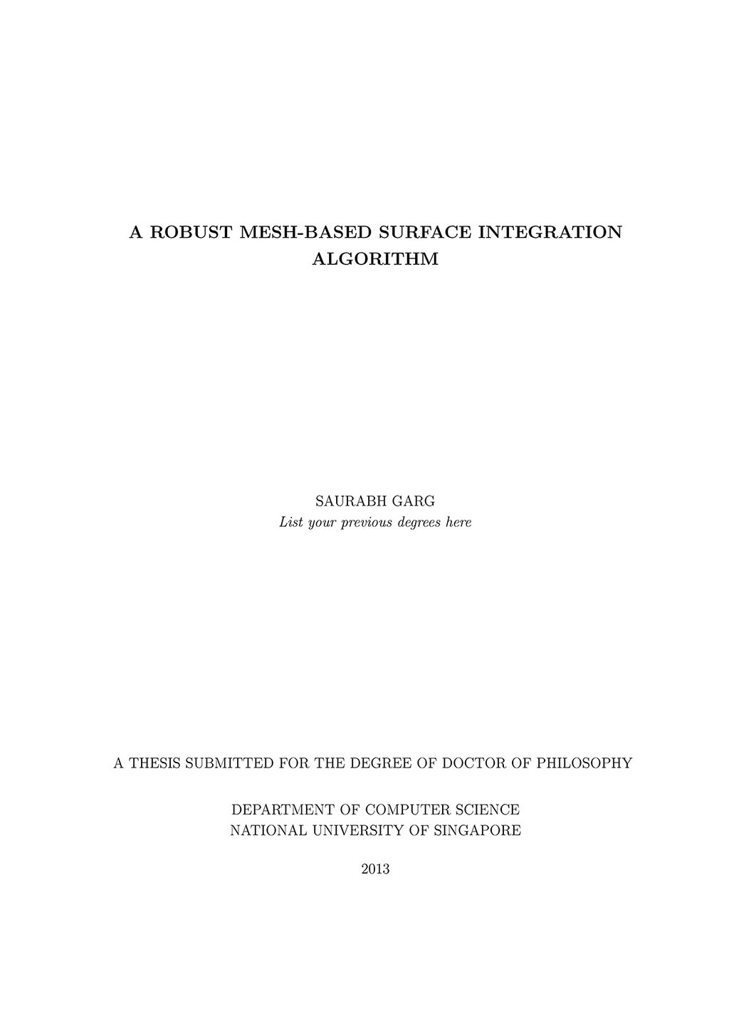 Nus phd thesis