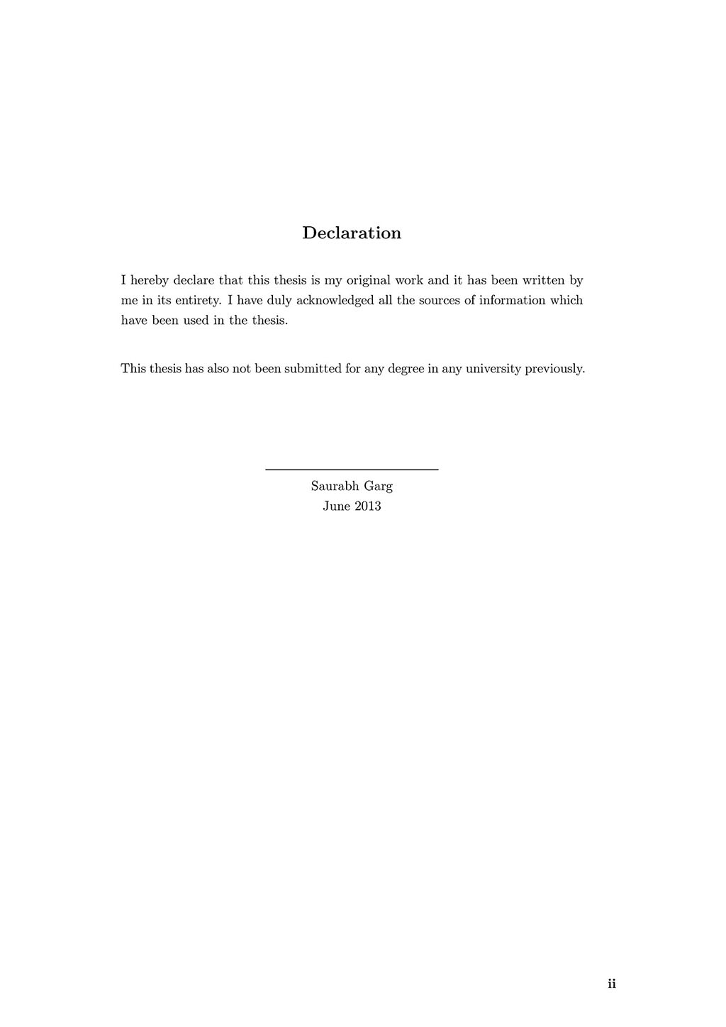 latex thesis declaration page